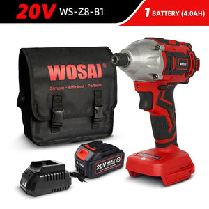 300Nm Brushless Electric Drill Cordless Screwdriver 20V Impact Driver Lithium-Ion Battery Power Tool