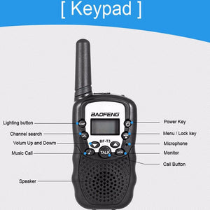 2pcs Handheld T3 Mini Wireless Two Way Radio Walkie Talkie for Children