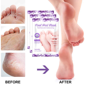 12pcs 6packs Exfoliating Feet Peeling Dead Skin Remover Moisturizing Whitening Foot Mask
