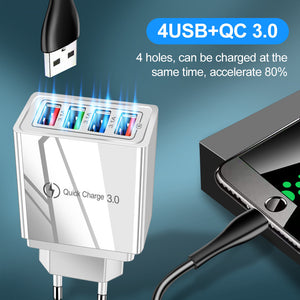 Portable USB Quick Charge 3.0 for Mobile Phones