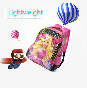 Princess Cartoon Kids Travel Rolling Luggage Bag