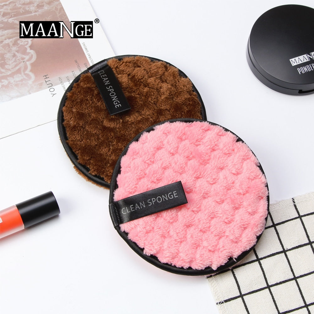 Reusable Double Layer Microfiber Face Remover Makeup Sponge