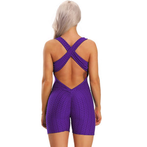 Sleeveless Backless Quick Dry Gym Tracksuit