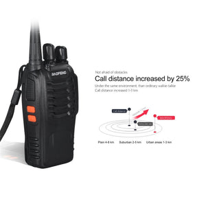 2 PCS BF-888S 5W Two-way Radio Portable UHF 400-520MHz Walkie Talkie
