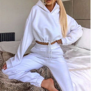 Two Piece Sports Casual Loose Tracksuit for Women