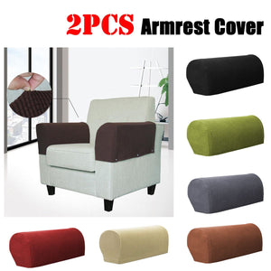 Towel Stain-proof Elastic 1 Pair Removable Arm Stretch Sofa Couch Protector Cover