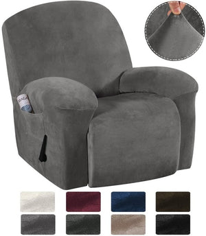 Elastic All-inclusive Velvet Recliner Chair Cover for Living Room