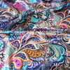 TOP SELLING Soft Satin Vintage Flowers Print Fabric for Sewing