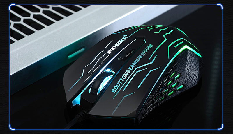 HOT SELLING Silent Click USB Wired Gaming Mouse for PC Mac Laptop