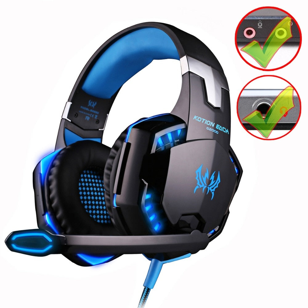 SMART Deep Bass Stereo LED Gaming Headset with Mic for Gamer
