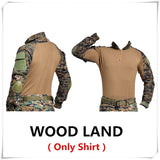 Wood Land Style Tactical Military Cargo Shirts