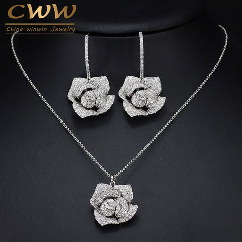 1 pair earrings and 1 Pcs pendant necklace