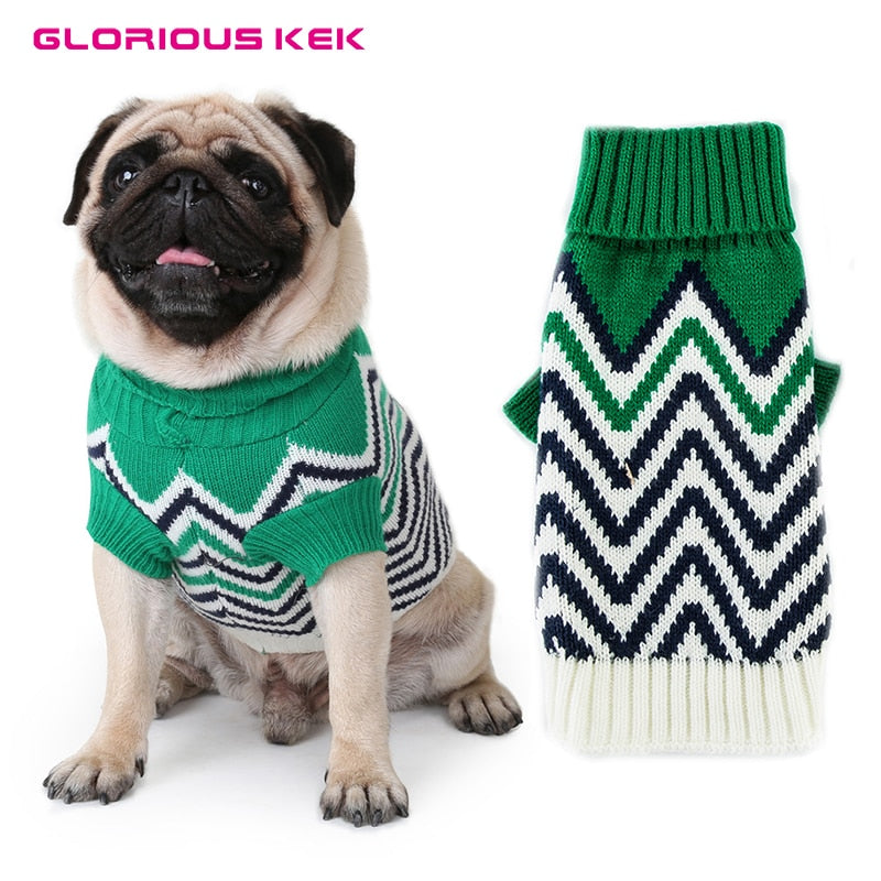 Fashionable Pet Dog Winter Warm Sweaters
