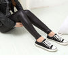 Women's Fashionable Faux Leather Sexy Thin Black Leggings
