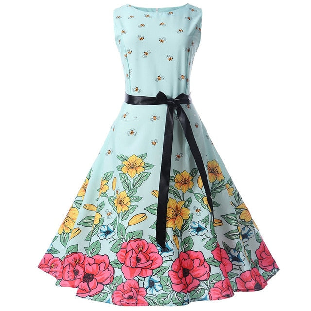 ELEGANT Summer Sleeveless Floral Dress for Women