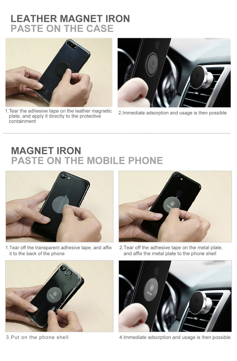 FAST SELLING Magnetic Disk Car Phone Holder