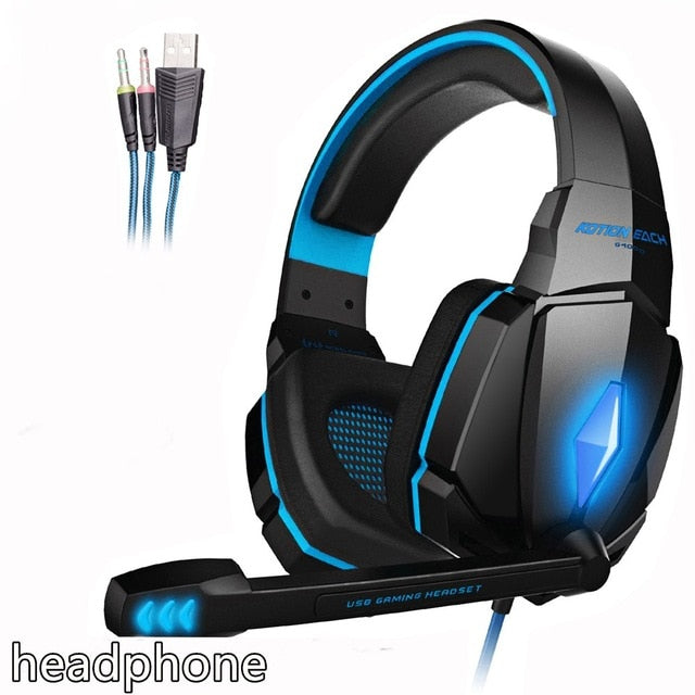 MEGA BASS Stereo LED Gaming Headset with Microphone