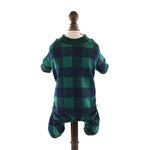 Plaid Pattern Warm Jumpsuit for Pet Dogs