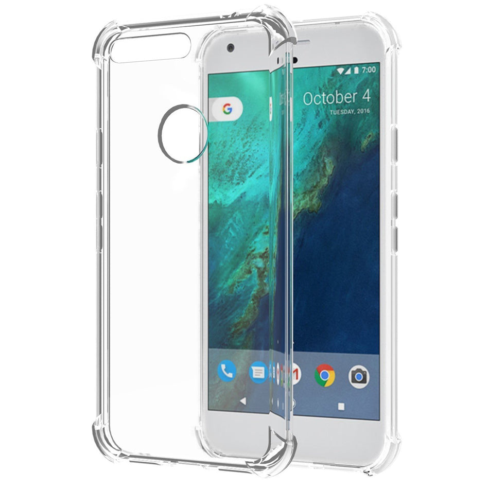 HOT SELLING Clear Crystal Soft Silicone Phone Cover for Google Pixel 1, 2, 3 XL