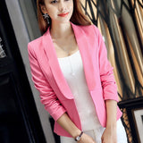 Stylish Long Sleeve Pink Blazer for Women