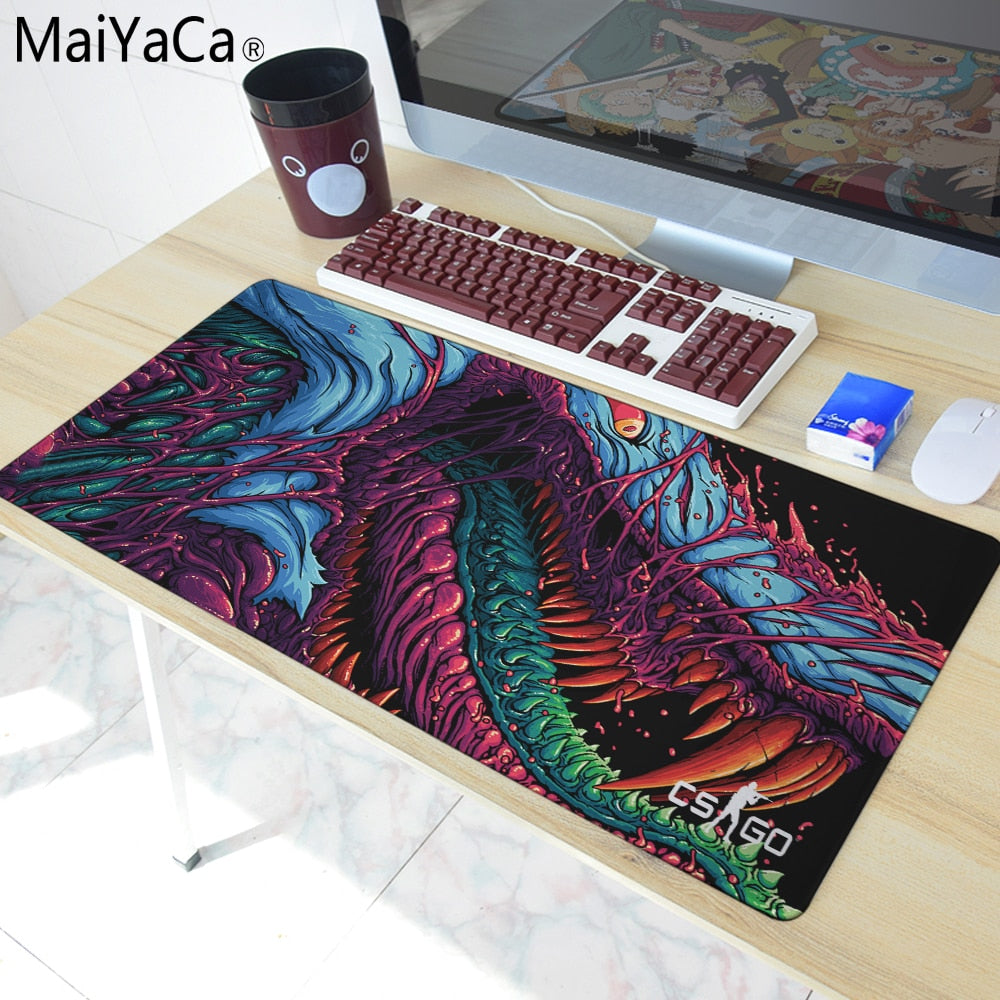 SMART and TRENDY Hyper Beast Large Mouse Pad with Overlock Edge
