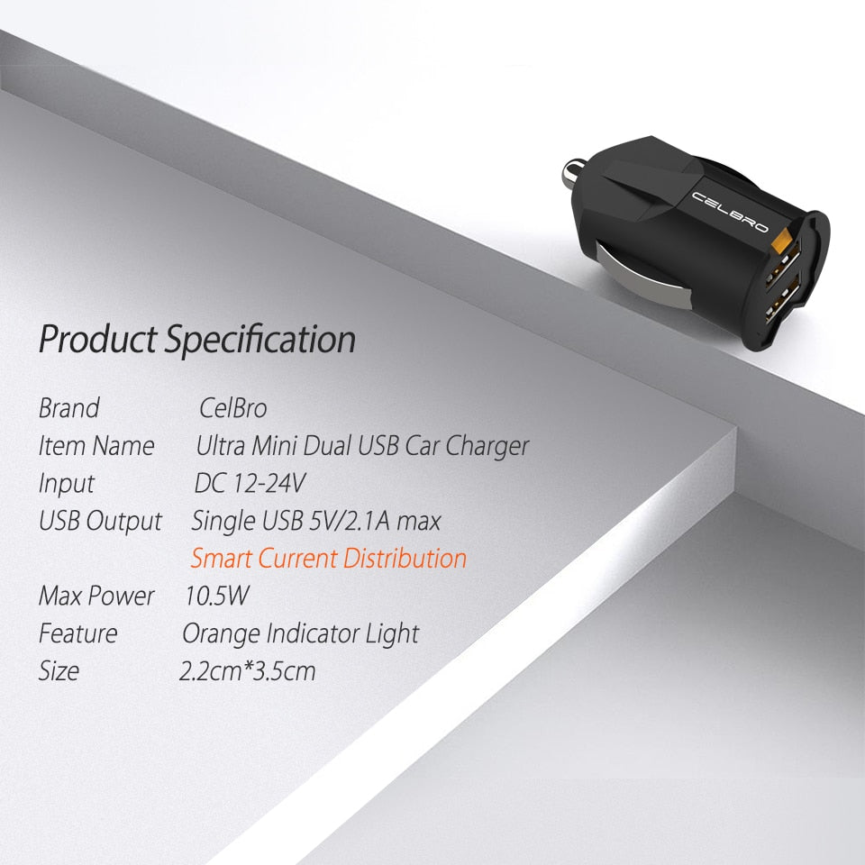 BEST SELLING Mini USB Car Charger for Mobile Phones