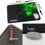HOT SELLING Green Print Large Anti-slip Natural Rubber Gaming Mouse Pad for Laptop / PC