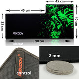 Green Print Anti-slip Gaming Mouse Pad