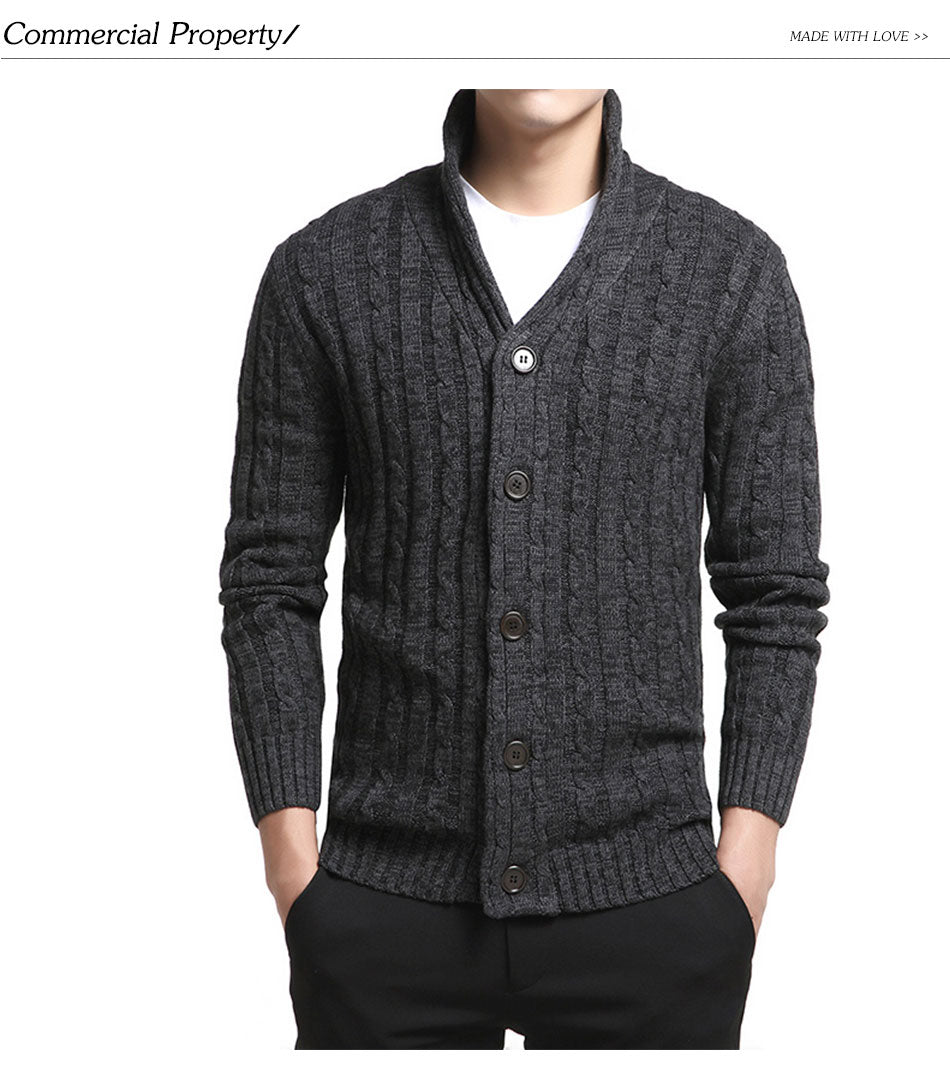 TOP SELLING V-Neck Solid Slim Fit Knitting Sweaters for Men
