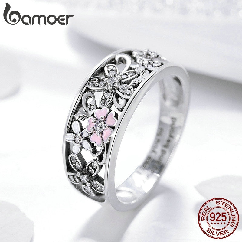 AMAZING 925 Sterling Silver Daisy Flower & Infinity Love Pave Finger Rings for Women