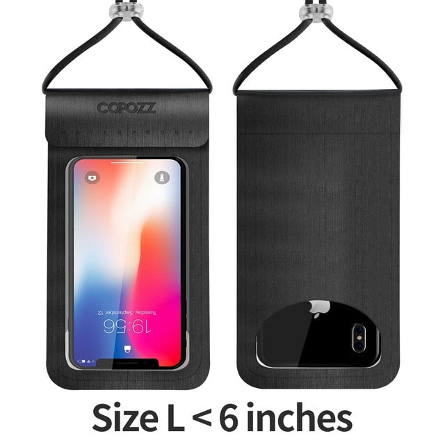 TRENDY Waterproof Dry Diving Bag Pouch with Neck Strap for iPhone Xiaomi Samsung