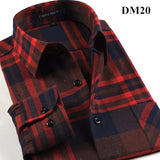 Flannel Design Long Sleeve Casual Shirts for Men