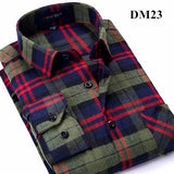 Full Length Cotton Casual Plaid Pattern Shirts