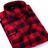 Flannel Design Long Sleeve Casual Shirts