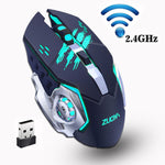 Rechargeable Silent Wireless Gaming Mouse