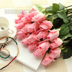 Pink Color Real Touch Artificial Flowers for Home Decoration