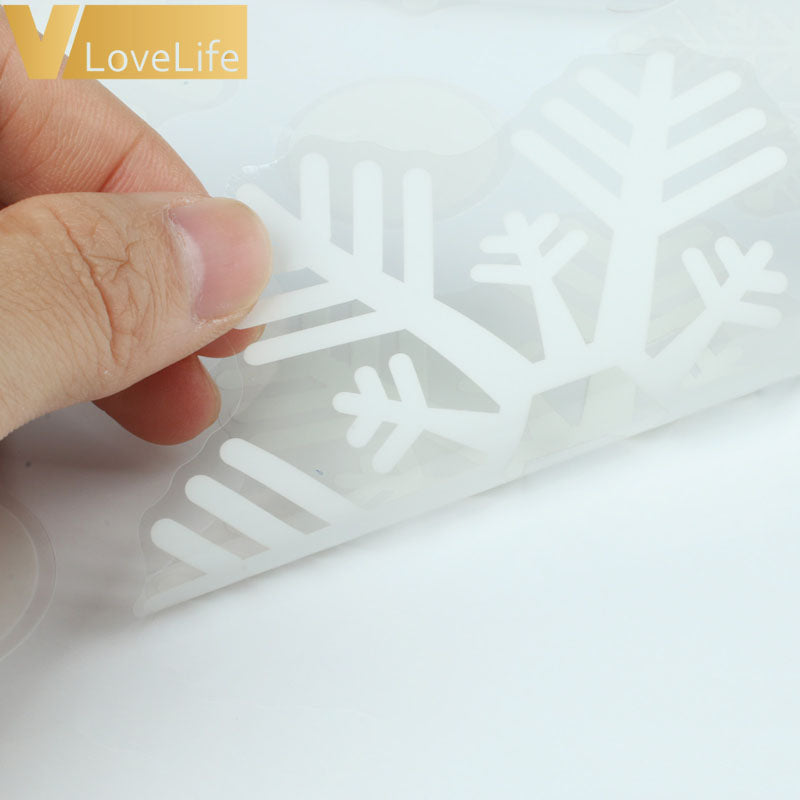 Christmas Window Snowflake Wall Stickers 48pcs / set