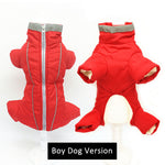 Red Color Waterproof Jumpsuit for Small Pet Dogs