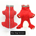 TRENDY Winter Waterproof Reflective Jumpsuit for Small Pet Dogs