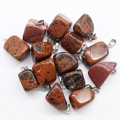 Hot Selling Trendy 30pcs/lot Assorted Natural Stone Mixed Irregular Shape Pendants