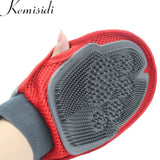High Quality Red Silicon Massage Glove for Cats Combing Accessories
