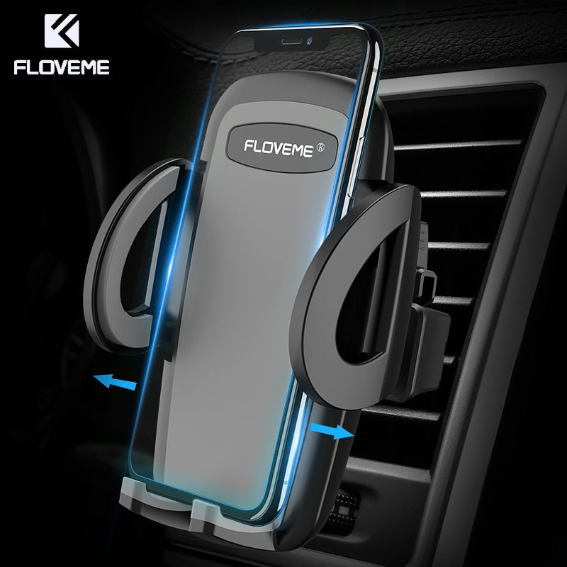 HOT Selling One-Click Release Car Phone Holder for iPhone, Xiaomi & Samsung
