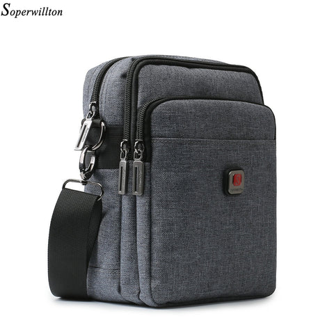 USB Charging Water-Resistant Gray Shoulder Cross Body Bags