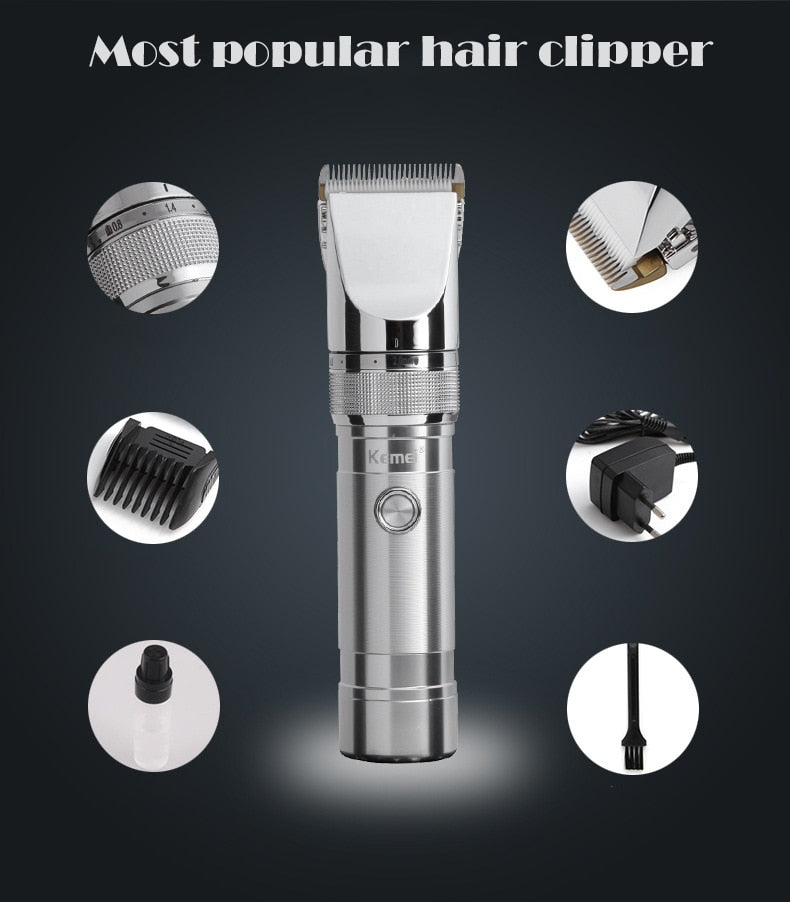 ON DEMAND High Quality Rechargeable Electric Hair Trimmer for Men