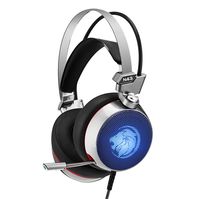 SMART and TRENDY LED Gaming Headset with 7.1 Virtual Surround Bass and Mic for PC Gamer