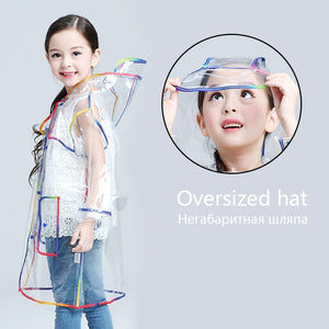 Waterproof Transparent Hooded Raincoat for Kids