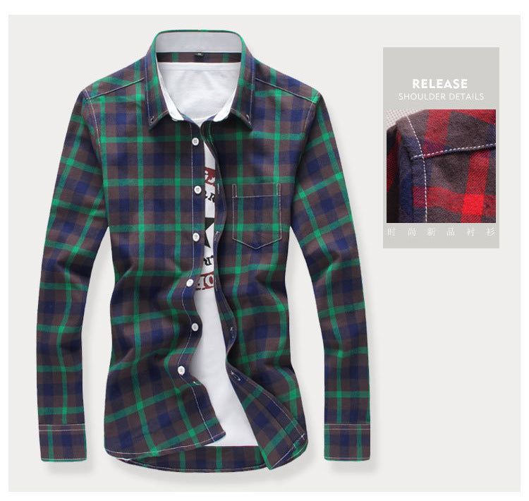 TOP SELLING Long Sleeve Checker Casual Shirts for Men