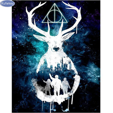 Diamond Handmade Embroidery Mosaic Deer Animals Painting