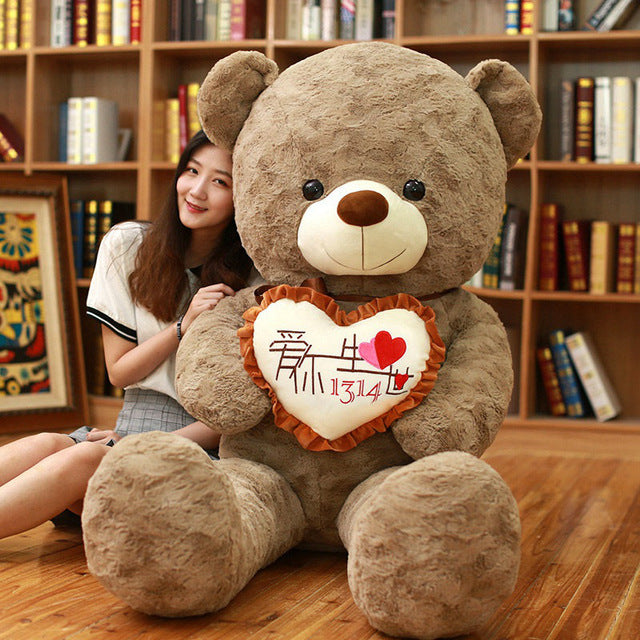 Attractive 1pc I Love You Holding LOVE Heart Soft Teddy Bear