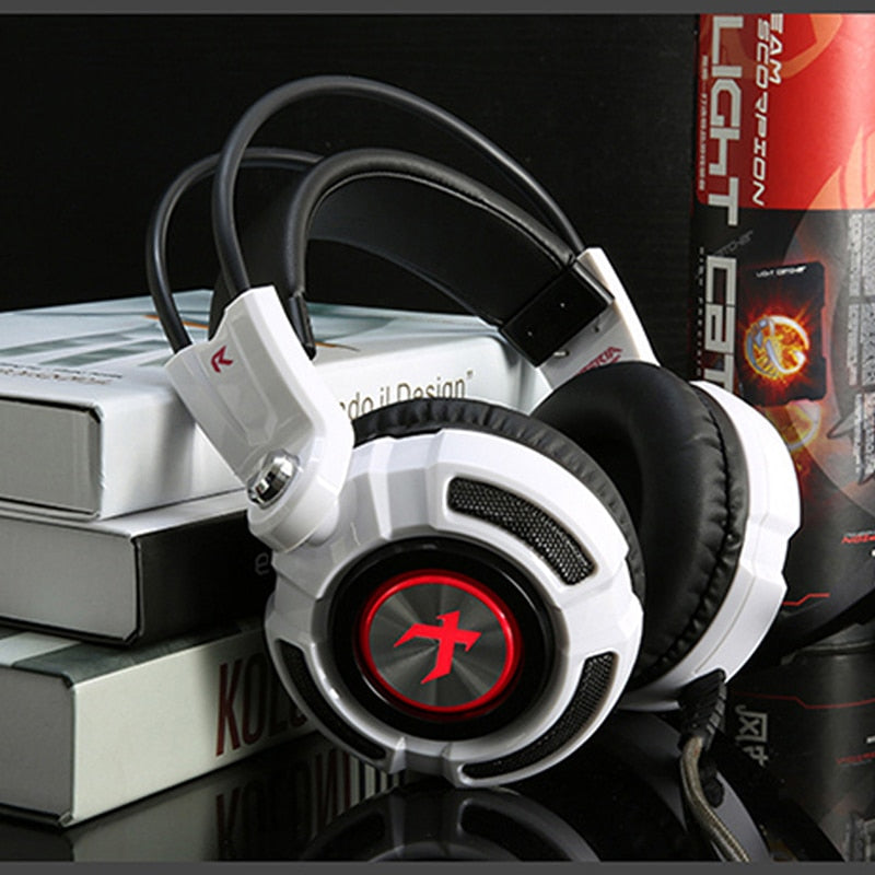 HOT Selling Virtual 7.1 Surround Sound Stereo Bass USB Gaming Headphones with LED Microphone for Computer Gamer
